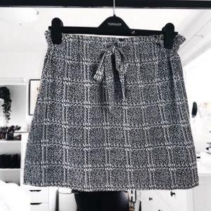 Topshop paper bag skirt NWT plaid